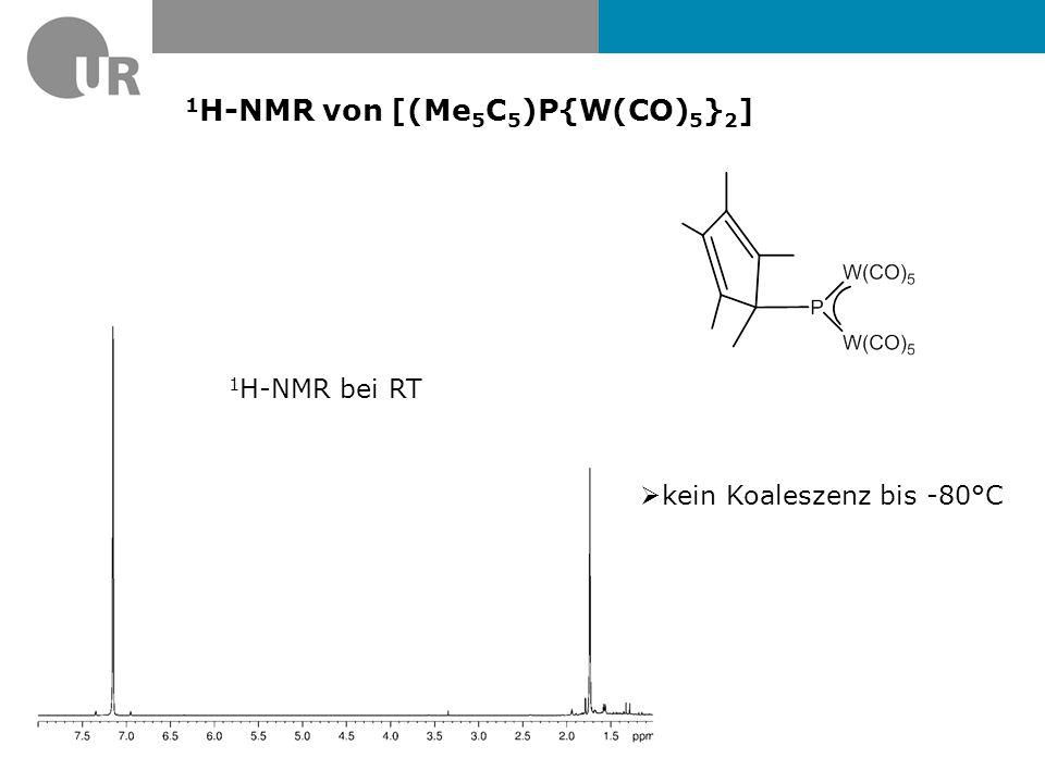 1H-NMR von [(Me5C5)P{W(CO)5}2]